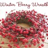 Simple Holiday Decor: Winter Berry Wreath!