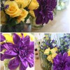 Purple & Yellow Dinner Party
