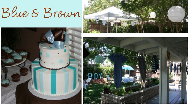 blue and brown baby shower ideas